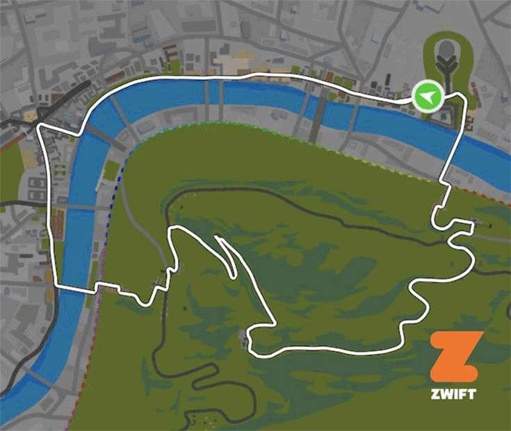 london-zwift Zwift Course Calendar for August