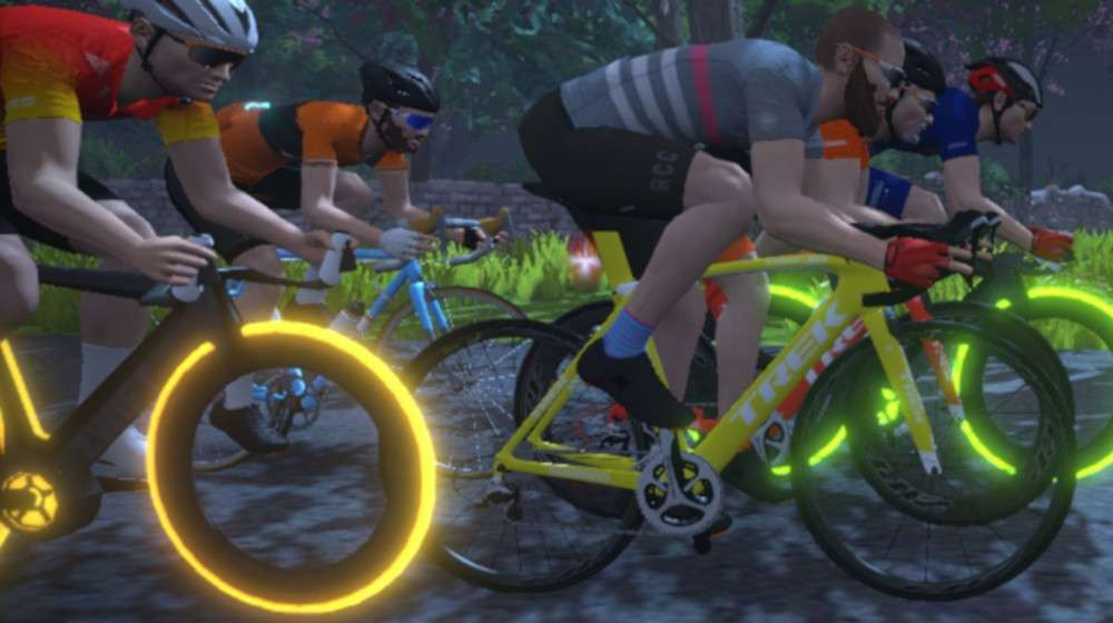 Arrange a group ride on Zwift