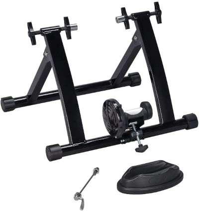 yaheetech-bike-trainer Top 5 Indoor Bike Trainer Stands to get you on Zwift