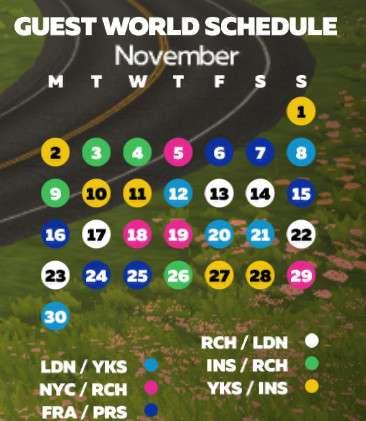 zwift-schedule-November-2020 Zwift Course Calendar for November
